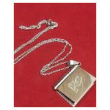 Stainless Steel  John 3:16 Book Necklace