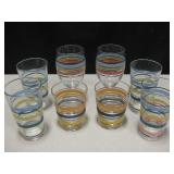 8 HLC Fiesta Glass Drinking Glasses