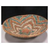 "16"" Diameter Coil Tribal Style Basket"
