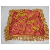 Vtg US Army Air Corps Silk Sweetheart Pillowcase