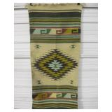 "25"" x 58"" Woven Wool Mexico Blanket"