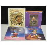 3 Laser Discs & 1 Video Disc - 2 Disney