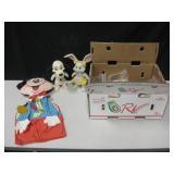 Vtg Mickey Mouse Organizer, 2 Coin Banks & More