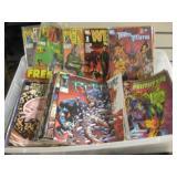 Plastic Tub Of Comics Teen Titans Nam & More