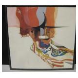 Vtg Carolyn Johnson Framed Print On Fiberboard