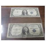 1935D & 1935E $1 Silver Certificates