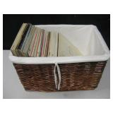 Large Basket w/ Assorted LP Records