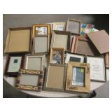 "Lot Of Assorted Picture Frames - 13"" x 11"" Largest"