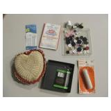 Sewing Notions, Pin Cushion, etc... - Some Vintage