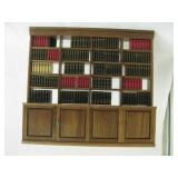 Doll House Wood Bookcase w/ Faux Books