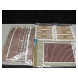 Vtg Dollhouse Crafting Materials Wallpaper etc