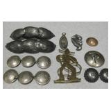 Vtg Sterling Clips And More
