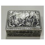 Antique Miniature Silver Snuff Box From Italy