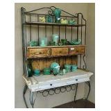 Vintage Outdoor Bakers Rack Contents Not Included