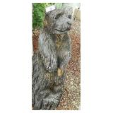 """36"""" Chain Saw Carved Weathered Bear"""