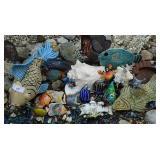 Outdoor Sea Figure Collection Glass , Metal Etc