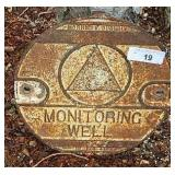 Vtg Cast Iron Monitoring Well LId