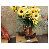 Summer Cowboy Boot Floral Arrangements