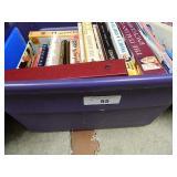 Tub Of Assorted Books Mainly Cookbooks