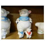 Vtg USA Made Pig Cookie Jar ,Salt & Pepper Shakers