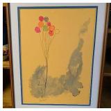 Original Pen & WaterColor  Balloon Art