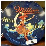 """12"""" Miller High Life Enamel Sign"""