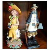"12"" Resin Gardener Figurine & Music Box"