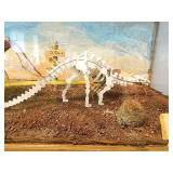 Custom Dinosaur Drawn Wells Fargo Wagon Diorama