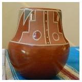 """1940s Native Santa Clara Painted Pottery 5"""" Tall"""