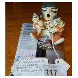 Vtg Cochiti Pueblo Native Story Teller Doll Signed
