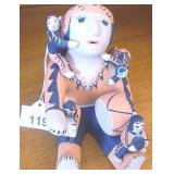 """2001 Native Signed Story Teller Doll 5.75"""" Tall"""