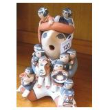 "9"" Tall Signed Native Story Teller Doll Judy Toya"