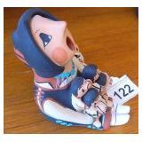 """Vtg Jemez Pueblo  4"""" Tall Story Teller Doll Signed"""