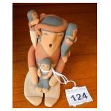 "Vtg 3.5"" Tall Story Teller Doll Signed Armijo"