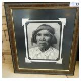 Native American B&W Framed Matted Photo