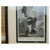 "Framed ""White Mans Moccasins"" B&W Photo"