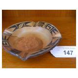 """1950s Hopi Pottery Ashtray 6"""" Across"""