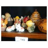 2 Painted Native Gourds & More