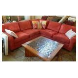 Cranberry L Shaped Corner Sofa 7.5