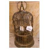 Carved Wood In Brass Birdcage