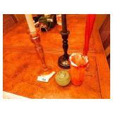 Art Glass Items & Candlesticks