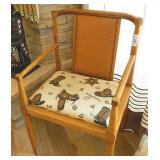 Mid Century Mod Ranch Ostrich Backed Chair