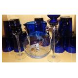 Cobalt PItcher & Glasses & More