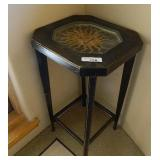 Glass Top Inlaid Sunface  Side Table