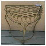 Wrought Iron Plant Stand/ Side Table