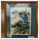 """Signed Forest Scene Watercolor Don Bofisch 17""""x14"""