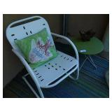 Retro Metal Patio Set Includes Butterfly