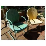 Vtg Pastel Color Outdoor Chairs