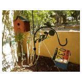 3 Bird Houses 2 Shephard Hooks