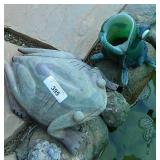 Large Marble Frog & Glass Frog